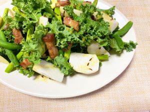 カリーノケールとサラダラティーナの簡単サラダ